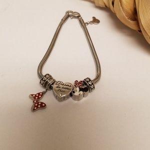 Disney Minnie Mouse Charm Bracelet